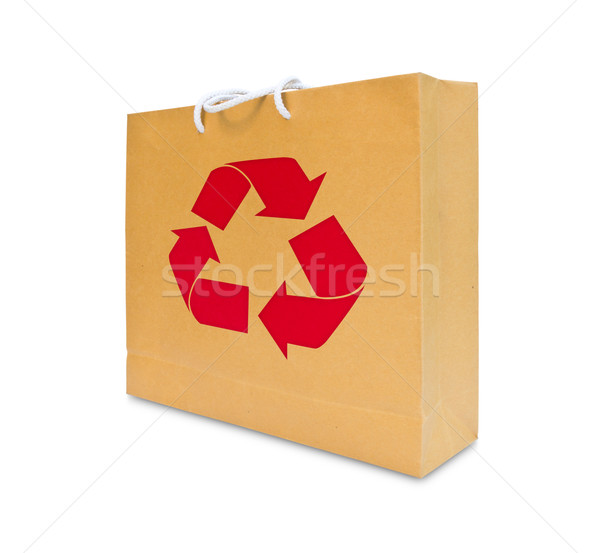 recycle sign on brown paper bag Stock photo © tungphoto