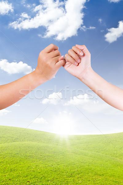 hand linking finger Stock photo © tungphoto