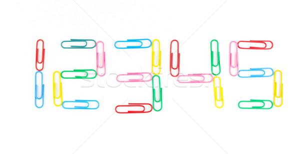 paperclips isolated on white background Stock photo © tungphoto