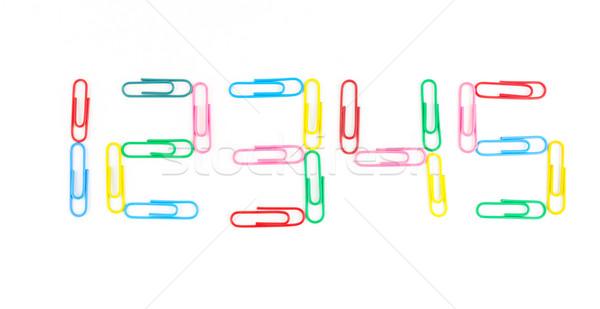 Odizolowany biały tle stali żelaza pin Zdjęcia stock © tungphoto