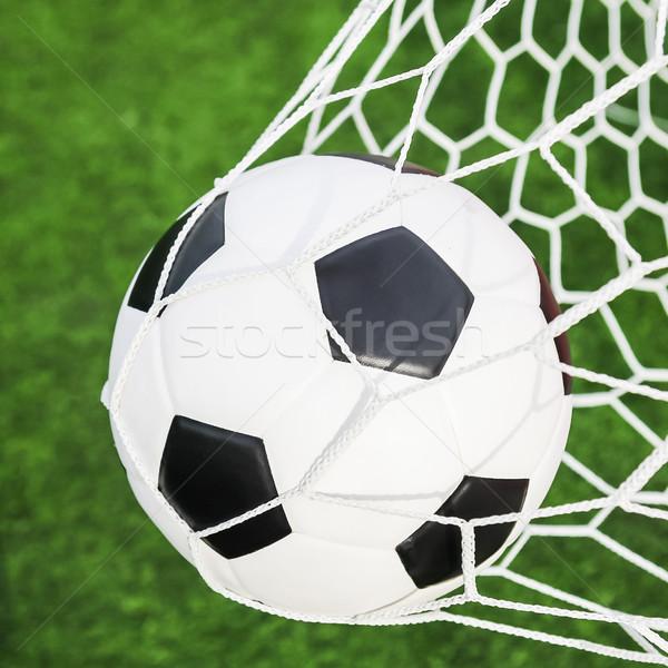 Voetbal doel net voetbal sport voetbal Stockfoto © tungphoto
