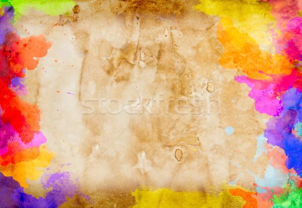 Vízfesték festmény klasszikus papír textúra festék Stock fotó © tungphoto