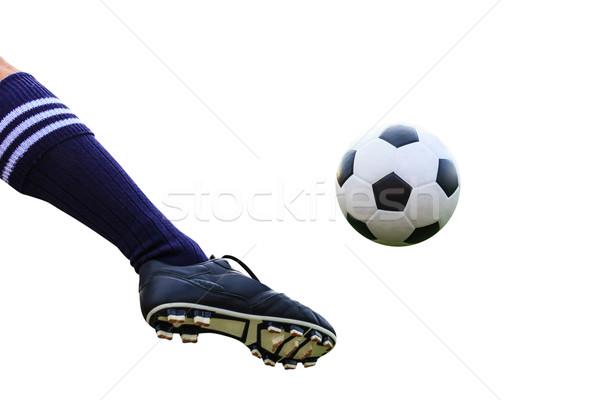 Voet voetbal geïsoleerd sport Stockfoto © tungphoto