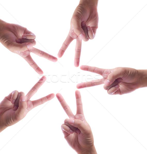 hand make star isolated Stock photo © tungphoto