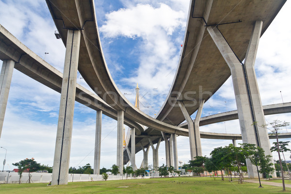 Köprü Bangkok Tayland yol Bina manzara Stok fotoğraf © tungphoto