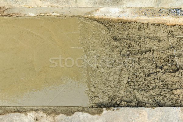 under construction road with fresh cement Stock photo © tungphoto