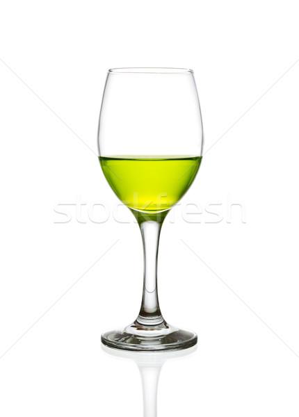 Wijnglas groene cocktail geïsoleerd water achtergrond Stockfoto © tungphoto