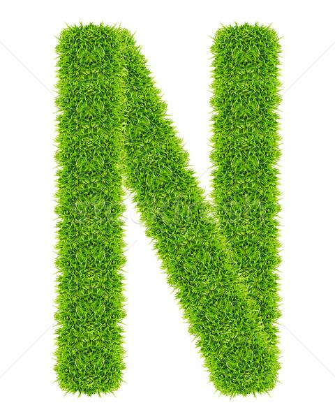 зеленая трава изолированный школы искусства письме Сток-фото © tungphoto