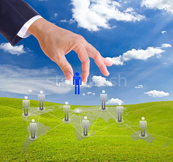 ビジネスマン 手 人 社会的ネットワーク 男 ストックフォト © tungphoto