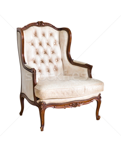 vintage luxury armchair isolated with clipping path Stock photo © tungphoto