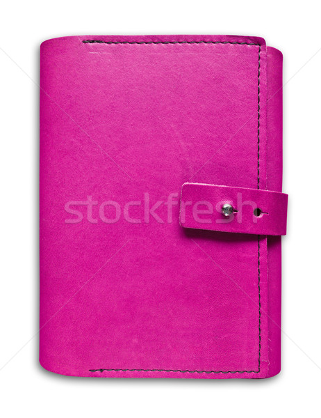 pink leather case notebook isolated  Stock photo © tungphoto