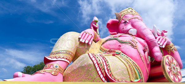 pink ganesha largest statue in Thailand Stock photo © tungphoto