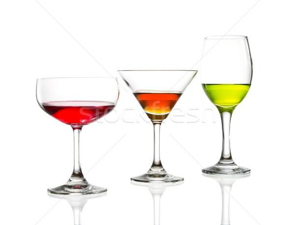 ワイングラス カラフル カクテル 孤立した 水 背景 ストックフォト © tungphoto