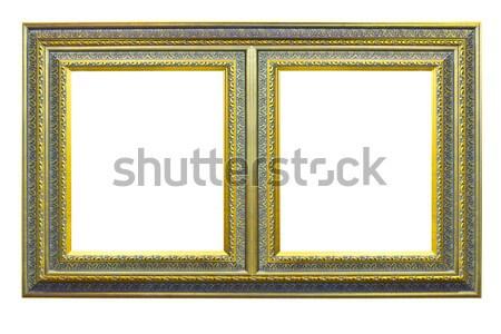 golden wood frame isolated Stock photo © tungphoto