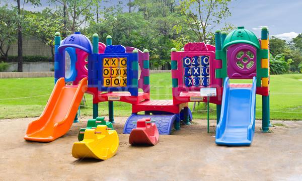children playground in park Stock photo © tungphoto