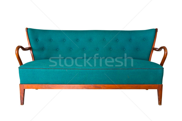 green sofa isolated with clipping path Stock photo © tungphoto