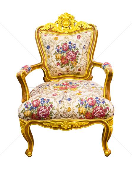 Luxus fotel izolált vágási körvonal textúra divat Stock fotó © tungphoto