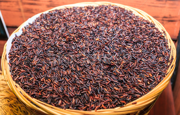 black rice background Stock photo © tungphoto