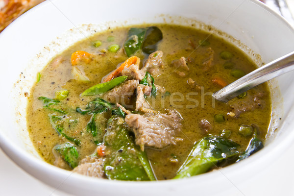 beef green curry delicious thai food Stock photo © tungphoto