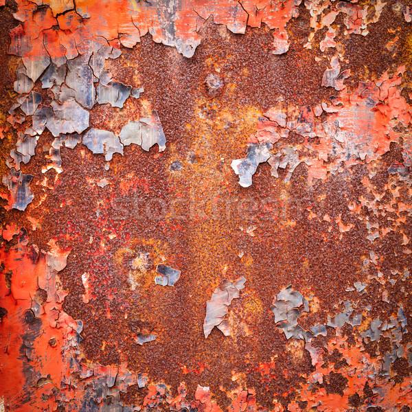 Grunge metal zardzewiałe powierzchnia tekstury ściany Zdjęcia stock © tungphoto