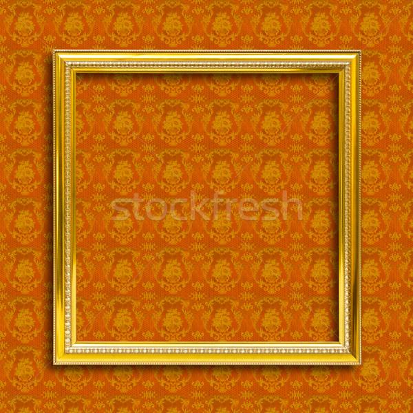 Keret arany fa citromsárga tapéta háttér Stock fotó © tungphoto