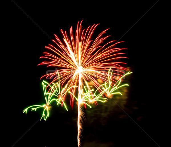 fireworks on black sky background Stock photo © tungphoto