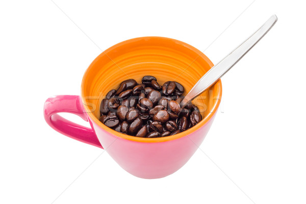 Fotele różowy kubek kawy tle życia Zdjęcia stock © tungphoto