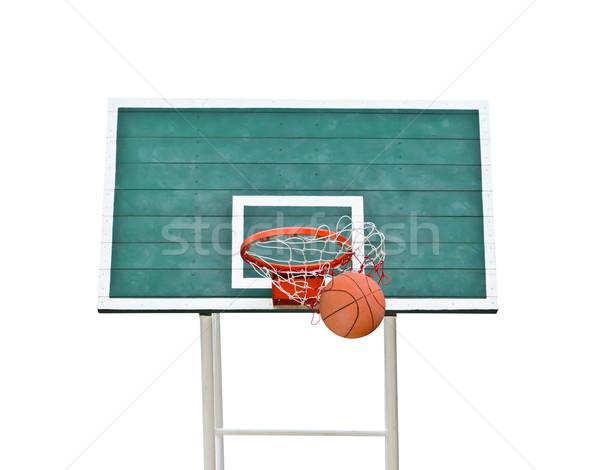 バスケットボール 孤立した 白 夏 スペース チーム ストックフォト © tungphoto