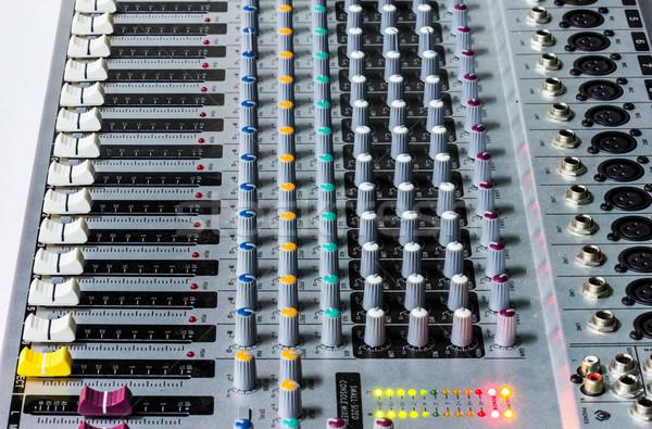 Ses mikser büro stüdyo kayıt medya Stok fotoğraf © tungphoto
