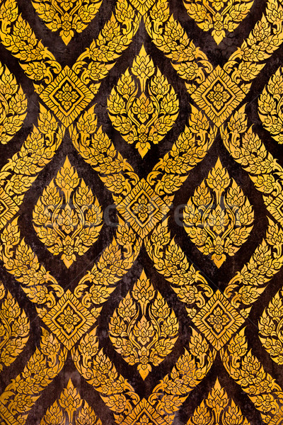 traditional thai style gold painting  Stock photo © tungphoto