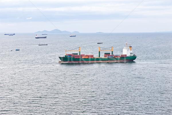 грузовое судно парусного морем воды металл океана Сток-фото © tungphoto