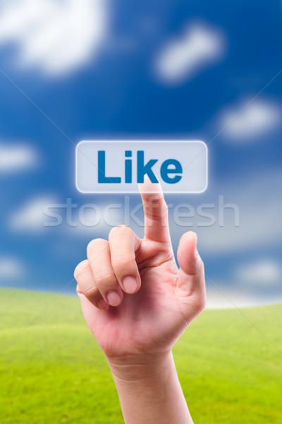 手 プッシング のような ボタン ビジネス 男 ストックフォト © tungphoto