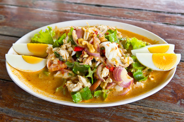 winged bean seafood and chili salad delicious thai food Stock photo © tungphoto