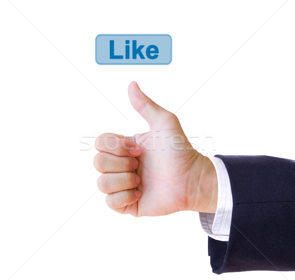 like hand and like button isolated Stock photo © tungphoto