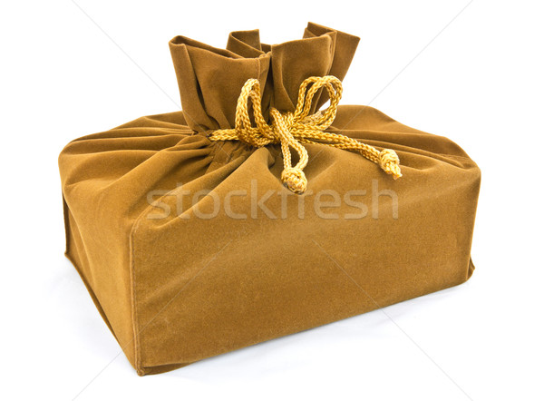 green fabric gift bag isolated Stock photo © tungphoto