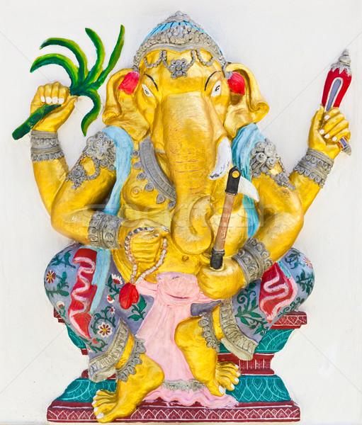 Indian god yoga tempel Thailand ogen Stockfoto © tungphoto