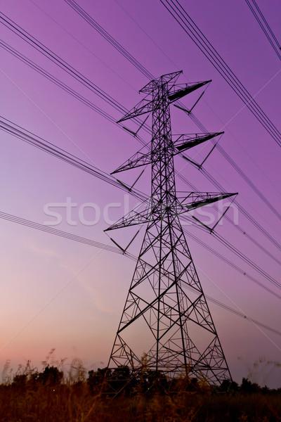 Elektryczne moc niebo technologii ramki Zdjęcia stock © tungphoto