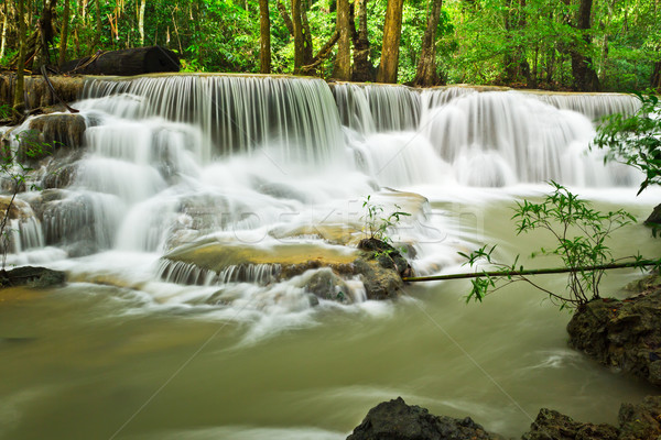 water fall , hua mae kamin level 6 kanchanaburi thailand Stock photo © tungphoto