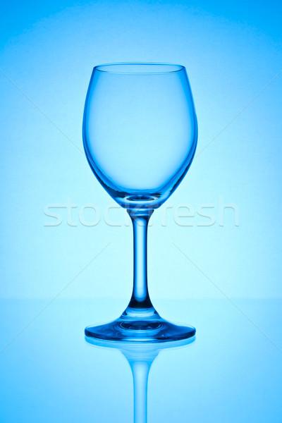空っぽ ワイングラス 水 背景 レストラン 赤 ストックフォト © tungphoto