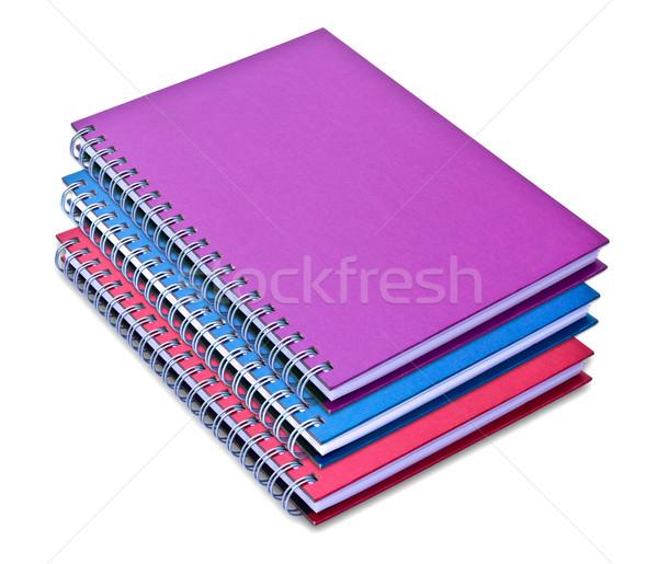 Zestaw kolor notebooka odizolowany biały biuro Zdjęcia stock © tungphoto