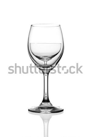 Weinglas isoliert Wasser Hintergrund Restaurant rot Stock foto © tungphoto