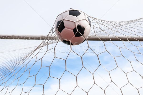 soccer ball in goal net Stock photo © tungphoto