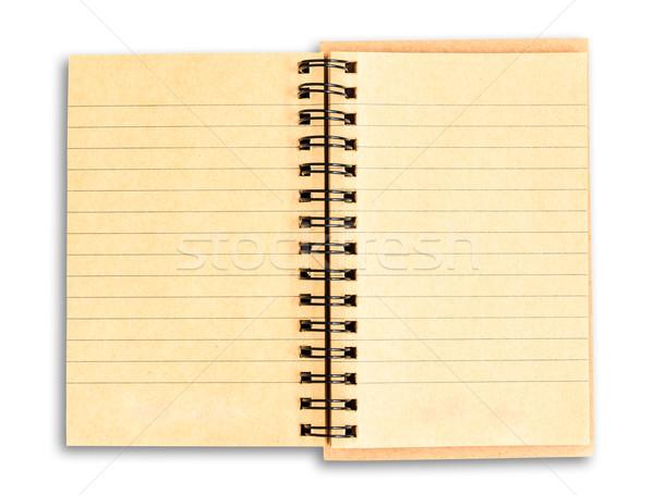 Riciclare carta marrone notebook isolato bianco Foto d'archivio © tungphoto