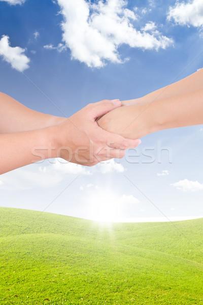 Man vrouw hand familie meisje Stockfoto © tungphoto