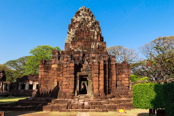 Castelo histórico parque antigo Tailândia paisagem Foto stock © tungphoto