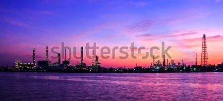 Oil refinery plant at twilight morning  Stock photo © tungphoto