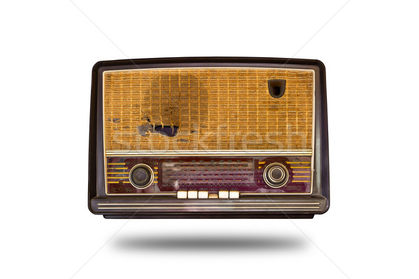 old vintage radion isolated Stock photo © tungphoto