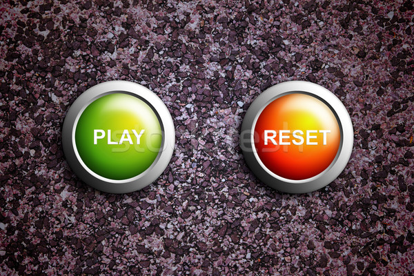 play and reset button on grunge texture Stock photo © tungphoto