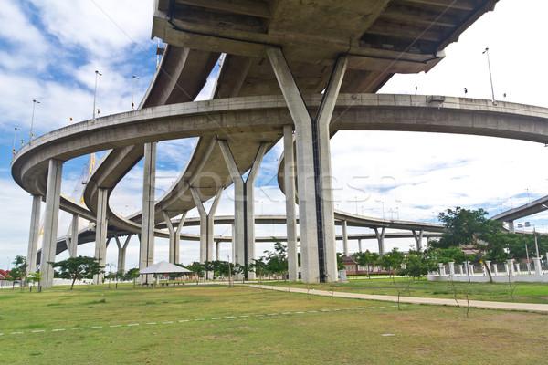 Bhumibol bridge in Samut Prakarn Bangkok, Thailand  Stock photo © tungphoto