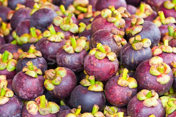 Мангостин тайский фрукты рынке свежие Сток-фото © tungphoto